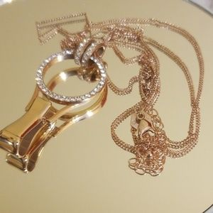 Origami Owl Rose Gold Lanyard with Chain